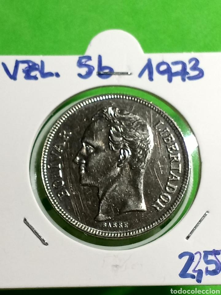 Monedas antiguas de América: 5 bolívares de Venezuela 1973 - Foto 2 - 246017190