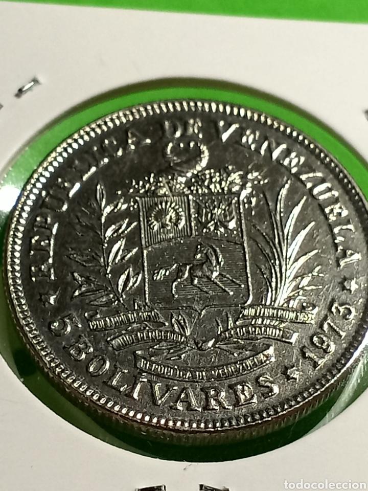 Monedas antiguas de América: 5 bolívares de Venezuela 1973 - Foto 3 - 246017190