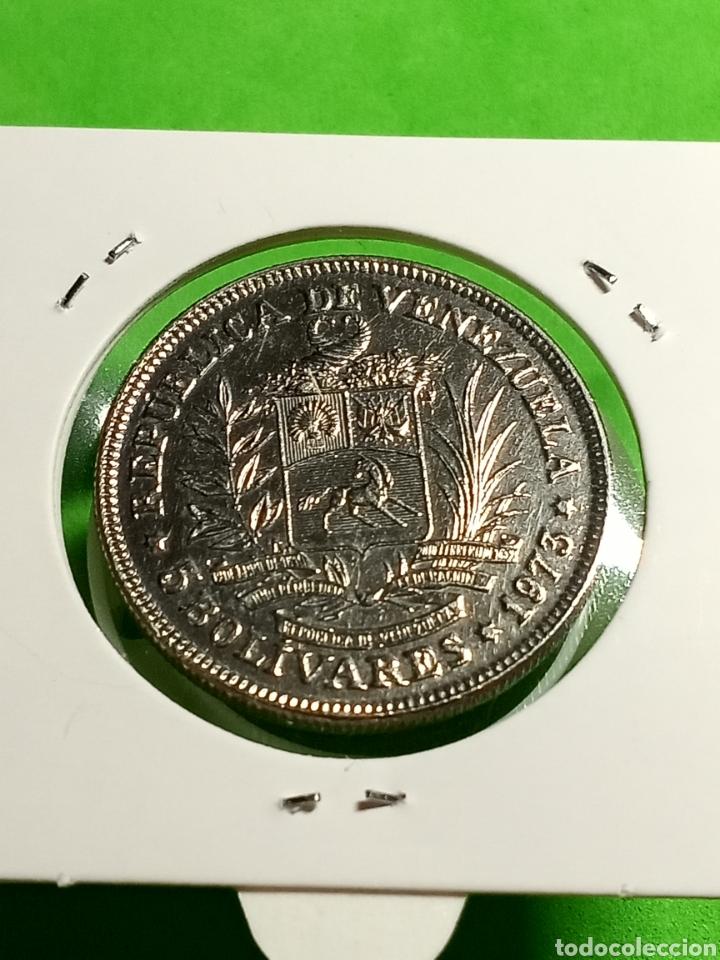 Monedas antiguas de América: 5 bolívares de Venezuela 1973 - Foto 4 - 246017190