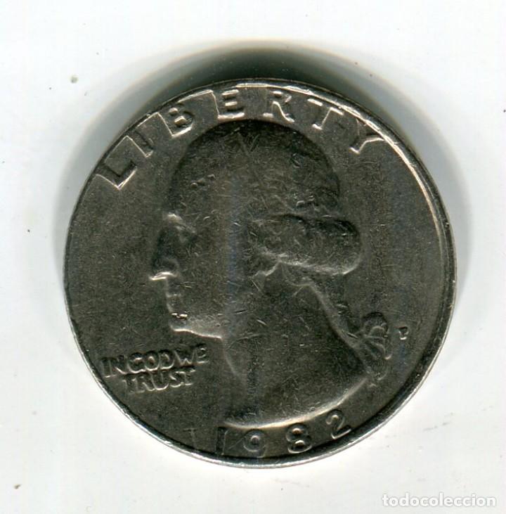 ESTADOS UNIDOS CUARTO DE DOLAR AÑO 1982 (Numismática - Extranjeras - América)
