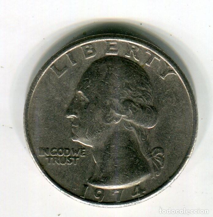 Monedas antiguas de América: ESTADOS UNIDOS 1 CUARTO DE DOLAR AÑO 1974 - S - - Foto 2 - 246037430