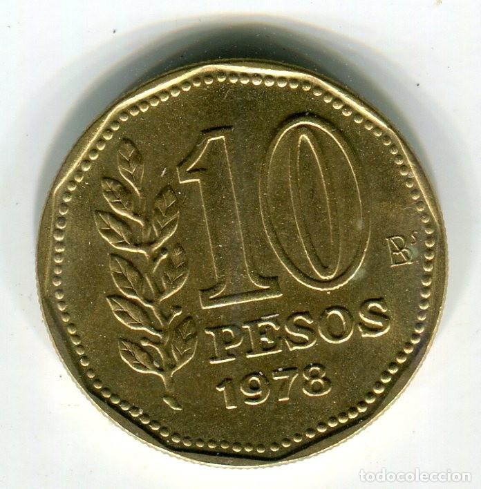 ARGENTINA 10 PESOS AÑO 1978 - S - (Numismática - Extranjeras - América)