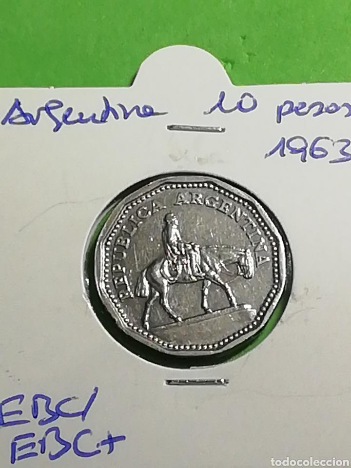 Monedas antiguas de América: Argentina. 10 pesos de 1963. Mbc. - Foto 2 - 246180530