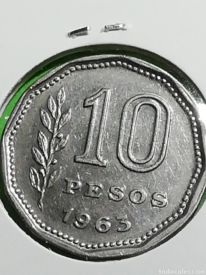 Monedas antiguas de América: Argentina. 10 pesos de 1963. Mbc. - Foto 3 - 246180530
