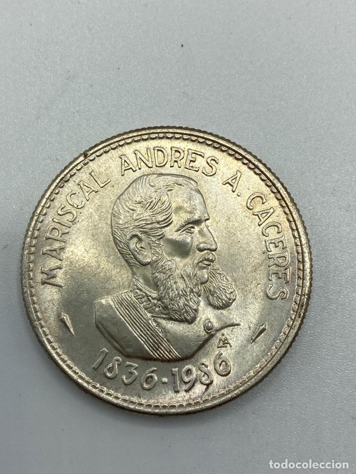 Monedas antiguas de América: MONEDA. PERU. MARISCAL ANDRES A. CACERES. 200 INTIS. 1836-1986. S/C. VER FOTOS - Foto 2 - 246453900