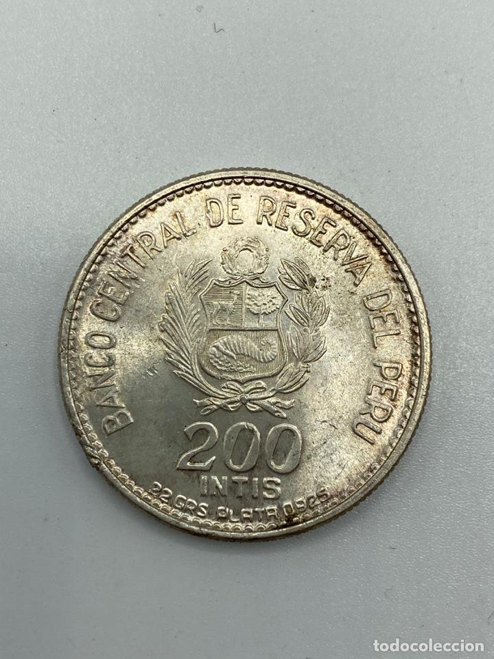 Monedas antiguas de América: MONEDA. PERU. MARISCAL ANDRES A. CACERES. 200 INTIS. 1836-1986. S/C. VER FOTOS - Foto 3 - 246453900