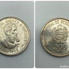 Monedas antiguas de América: MONEDA. PERU. MARISCAL ANDRES A. CACERES. 200 INTIS. 1836-1986. S/C. VER FOTOS. Lote 246454135