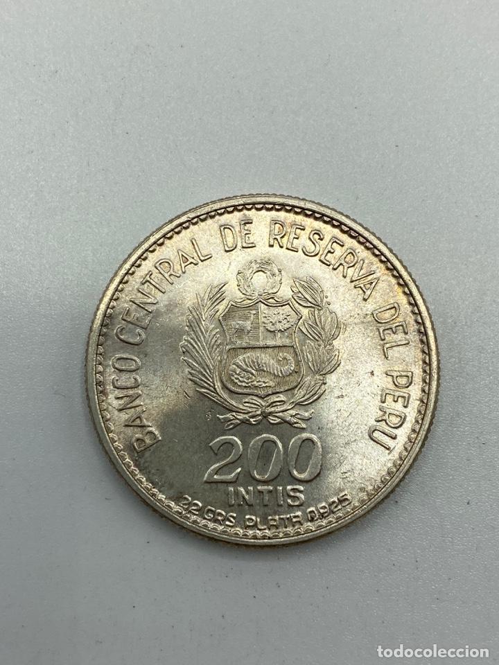 Monedas antiguas de América: MONEDA. PERU. MARISCAL ANDRES A. CACERES. 200 INTIS. 1836-1986. S/C. VER FOTOS - Foto 3 - 246454135