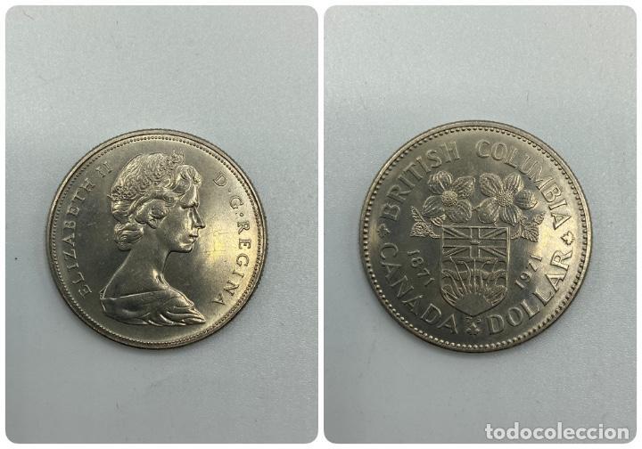 MONEDA. CANADA. ELIZABETH II. DOLLAR. DOLAR. 1971. S/C. BRITISH COLUMBIA 1871-1971. VER FOTOS (Numismática - Extranjeras - América)