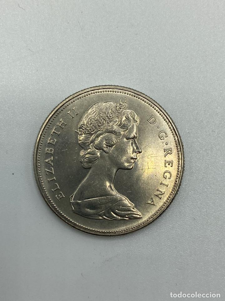 Monedas antiguas de América: MONEDA. CANADA. ELIZABETH II. DOLLAR. DOLAR. 1971. S/C. BRITISH COLUMBIA 1871-1971. VER FOTOS - Foto 2 - 246461570