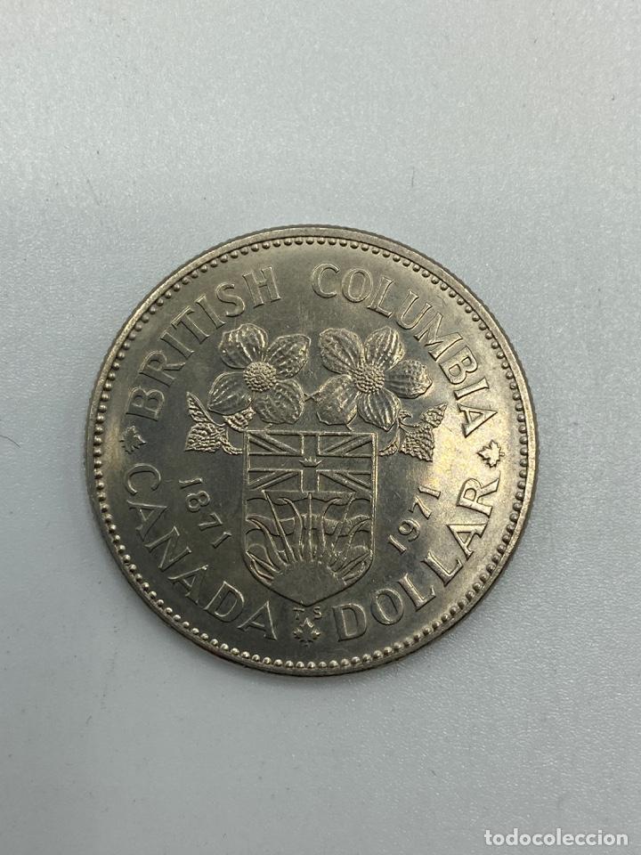Monedas antiguas de América: MONEDA. CANADA. ELIZABETH II. DOLLAR. DOLAR. 1971. S/C. BRITISH COLUMBIA 1871-1971. VER FOTOS - Foto 3 - 246461570