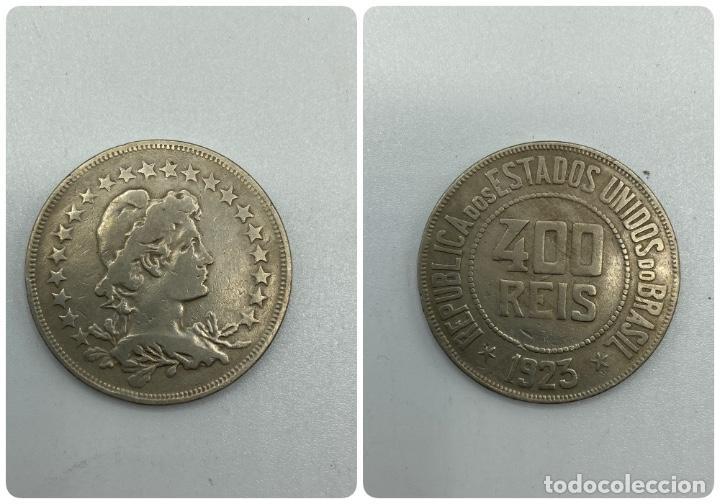 MONEDA. REPUBLICA DE LOS ESTADOS UNIDOS DE BRASIL. 400 REIS. 1923. VER FOTOS. (Numismática - Extranjeras - América)