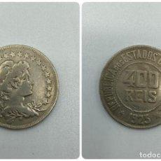 Monedas antiguas de América: MONEDA. REPUBLICA DE LOS ESTADOS UNIDOS DE BRASIL. 400 REIS. 1923. VER FOTOS.. Lote 246465000