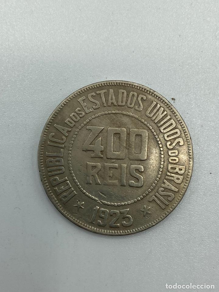 Monedas antiguas de América: MONEDA. REPUBLICA DE LOS ESTADOS UNIDOS DE BRASIL. 400 REIS. 1923. VER FOTOS. - Foto 3 - 246465000