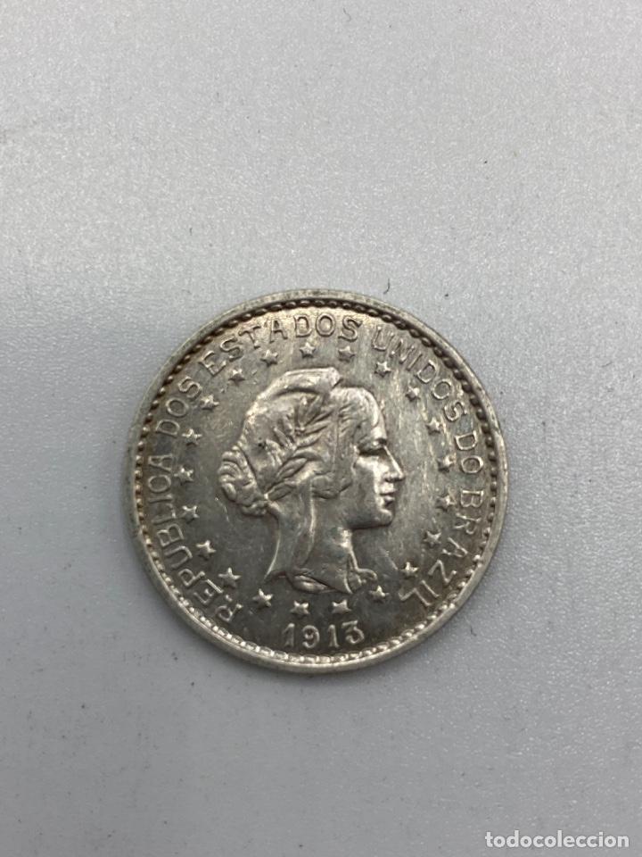 Monedas antiguas de América: MONEDA. REPUBLICA DE LOS ESTADOS UNIDOS DE BRASIL. 500 REIS. 1913. VER FOTOS. - Foto 2 - 246465250
