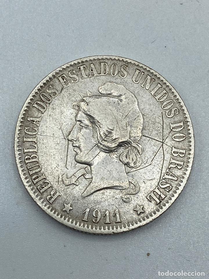Monedas antiguas de América: MONEDA. BRASIL. 2000 REIS. 1911. VER FOTOS - Foto 3 - 246835090