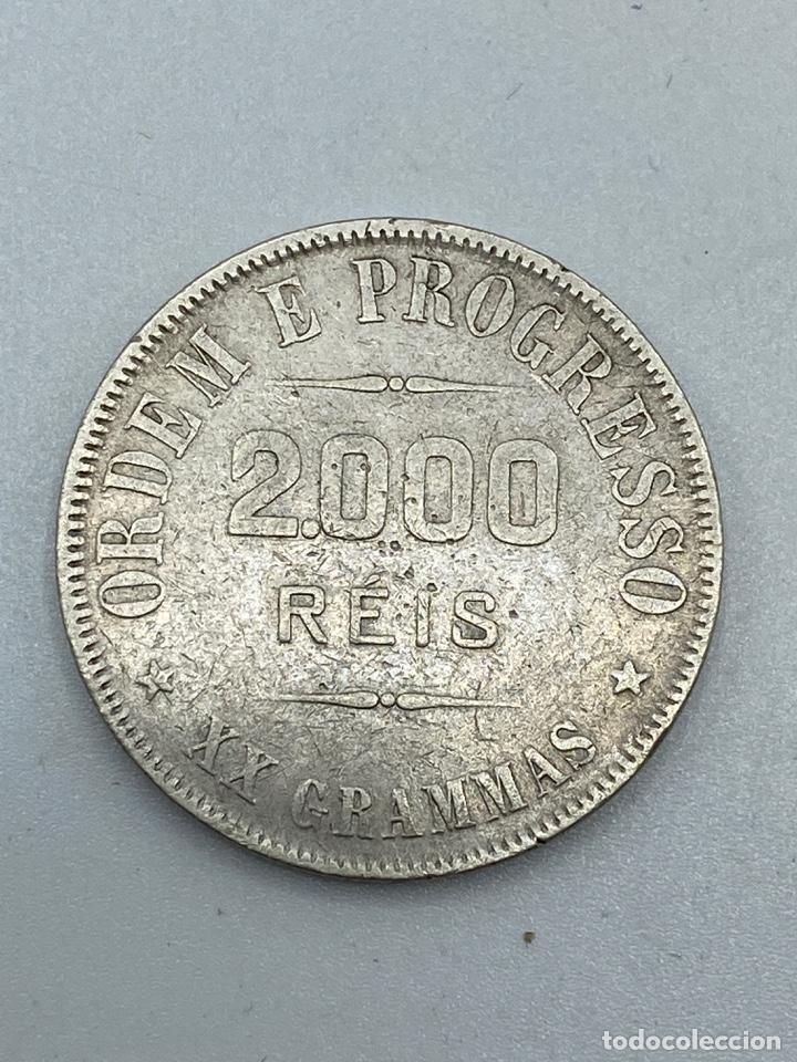 Monedas antiguas de América: MONEDA. BRASIL. 2000 REIS. 1911. VER FOTOS - Foto 4 - 246835090