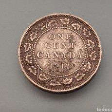 Monedas antiguas de América: MONEDA 1 CENT 1911 CANADA GEORGIVS V. Lote 247245025