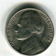 Monedas antiguas de América: ESTADOS UNIDOS FIVE CENTS AÑO 1974 ( 2 ) ( EEUU 2). Lote 247603240