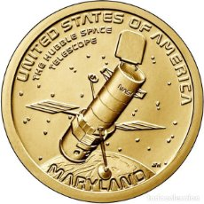 Moedas antigas da América: ESTADOS UNIDOS / USA 1 DOLAR 2020 INNOVADORES AMERICANOS ( TELESCOPIO ESPACIAL HUBBLE ) P. Lote 247641425