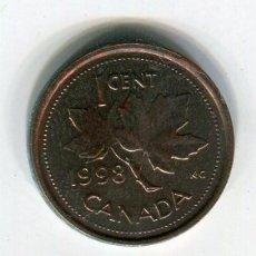 Monedas antiguas de América: CANADA 1 CENTS AÑO 1998. Lote 247798875
