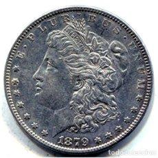Monedas antiguas de América: ESTADOS UNIDOS - 1 DOLAR - 1879 - PLATA - E.B.C++. Lote 247936670