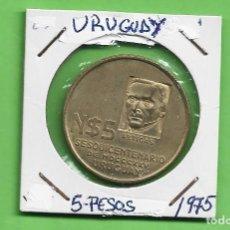 Monedas antiguas de América: URUGUAY. 5 PESOS 1975. MOVIMIENTO REVOLUCIONARIO. BRONCE CON ALUMINIO. KM#65. Lote 248232725