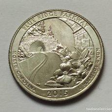 Monedas antiguas de América: ## USA CUARTO DE DOLAR - BLUE RIDGE PARKWAY - 2015 D SIN CIRCULAR ##. Lote 249165560