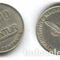 Moedas antigas da América: CUBA – 10 CENTAVOS 1981, KM 415.1, CALIDAD MBC+. Lote 249341840