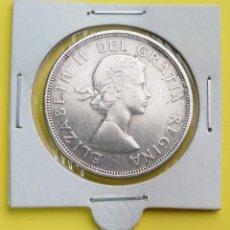 Monedas antiguas de América: MONEDA DE CANADA 1 DOLAR 1964, 100 ANIVERSARIO DE CHARLOTTETOWN Y LA CIUDAD DE QUEBEC. Lote 250169780