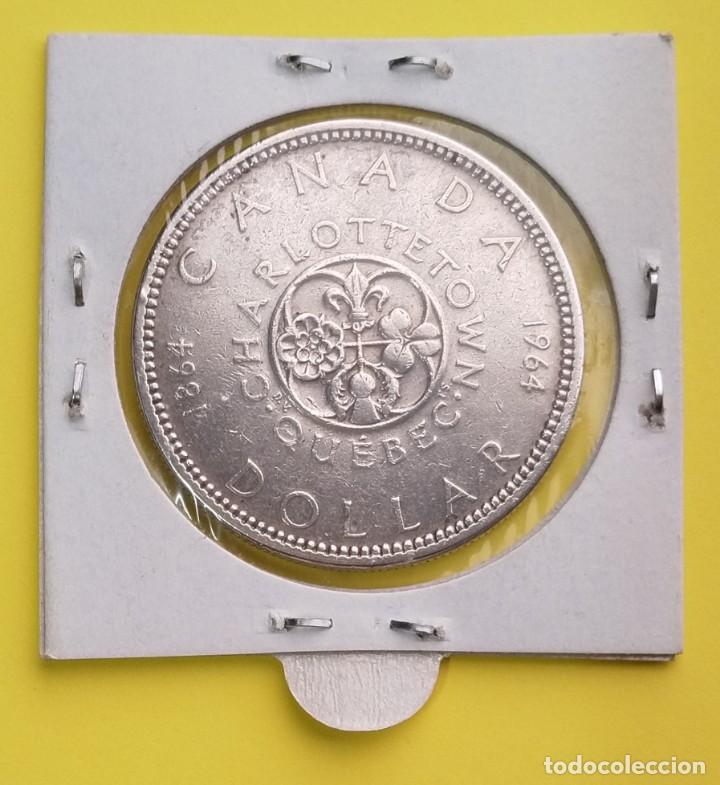 Monedas antiguas de América: MONEDA DE CANADA 1 Dolar 1964, 100 aniversario de Charlottetown y la Ciudad de Quebec - Foto 2 - 250169780