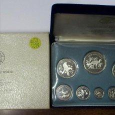 Monedas antiguas de América: BELIZE 1974. SERIE OFICIAL EN PLATA: 1-5-10-25 Y 50 CENTS Y 1-5 Y 10 DOLARES. PROOF. LOTE 3749. Lote 251141365