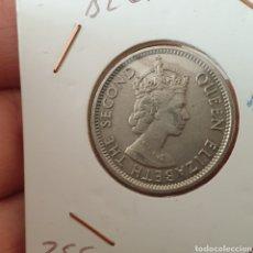 Monedas antiguas de América: BELICE 25 CENT 1991 - ISABEL II. Lote 251510335