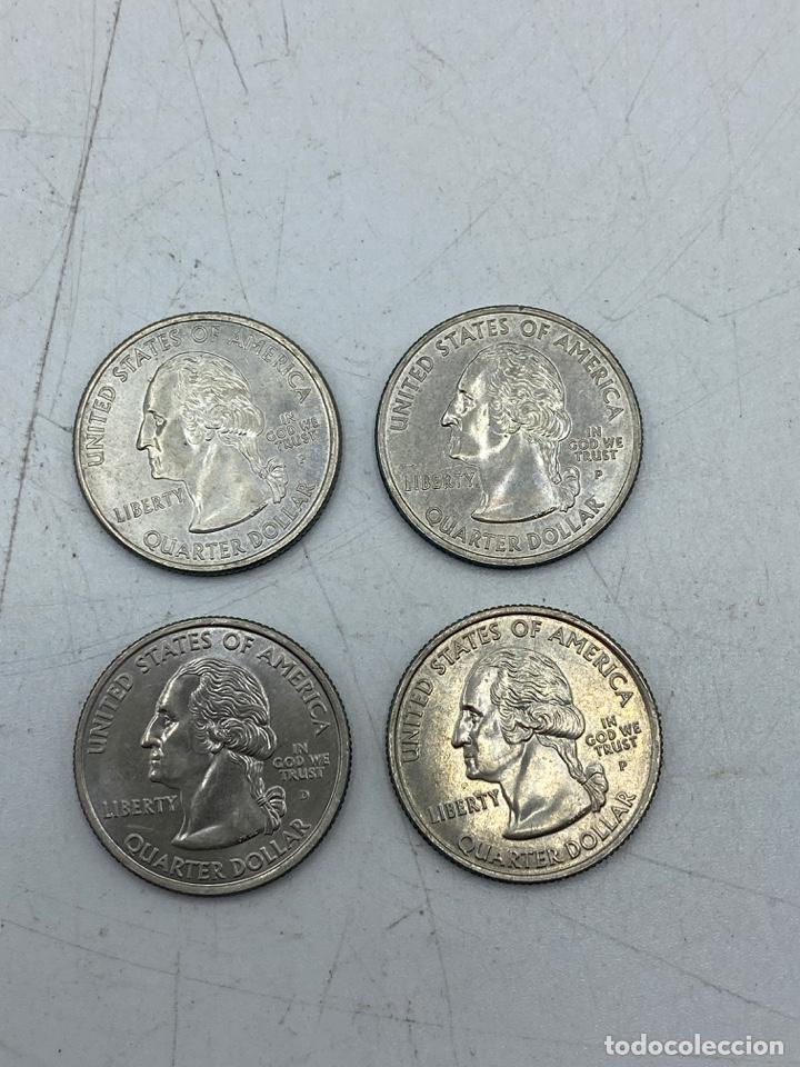 Monedas antiguas de América: LOTE DE 18 MONEDAS DE EEUU. NEW YORK Y WISCONSIN. QUARTER DOLLAR. CUARTO DOLAR. DEL AÑO 2001 Y 2004. - Foto 2 - 251799740