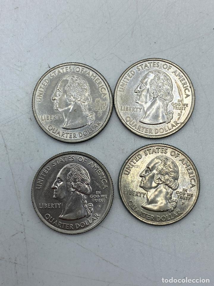 Monedas antiguas de América: LOTE DE 18 MONEDAS DE EEUU. NEW YORK Y WISCONSIN. QUARTER DOLLAR. CUARTO DOLAR. DEL AÑO 2001 Y 2004. - Foto 4 - 251799740