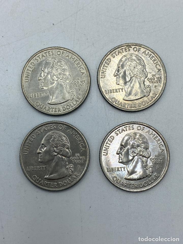 Monedas antiguas de América: LOTE DE 18 MONEDAS DE EEUU. NEW YORK Y WISCONSIN. QUARTER DOLLAR. CUARTO DOLAR. DEL AÑO 2001 Y 2004. - Foto 6 - 251799740