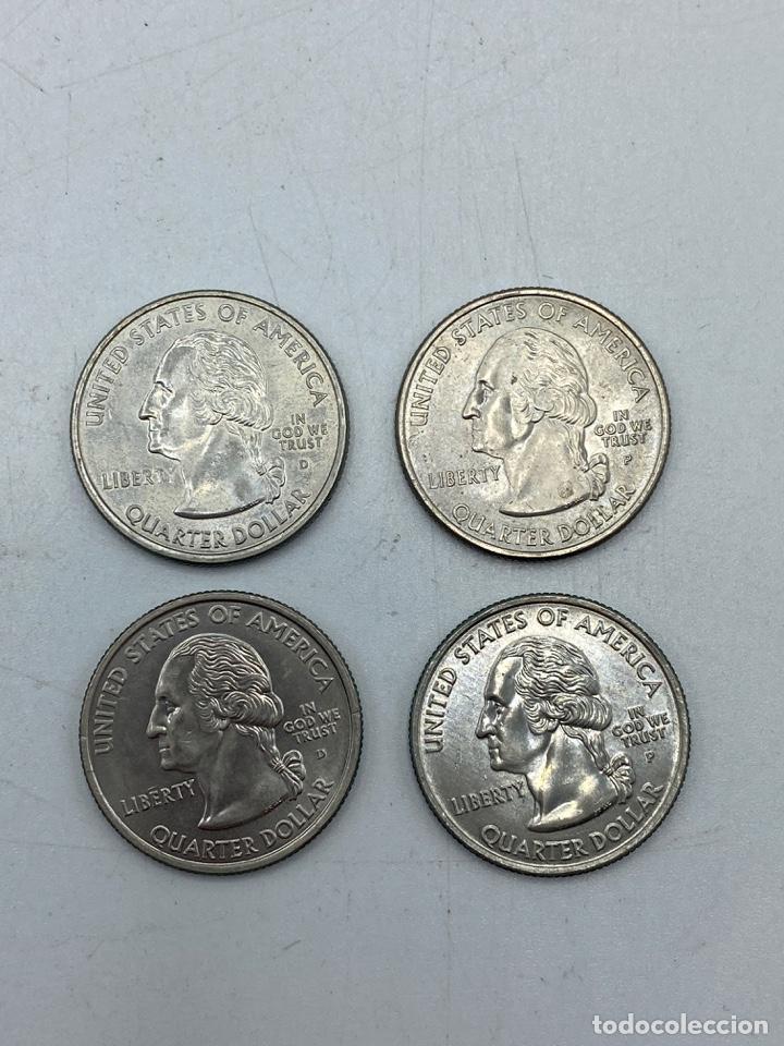Monedas antiguas de América: LOTE DE 18 MONEDAS DE EEUU. NEW YORK Y WISCONSIN. QUARTER DOLLAR. CUARTO DOLAR. DEL AÑO 2001 Y 2004. - Foto 8 - 251799740