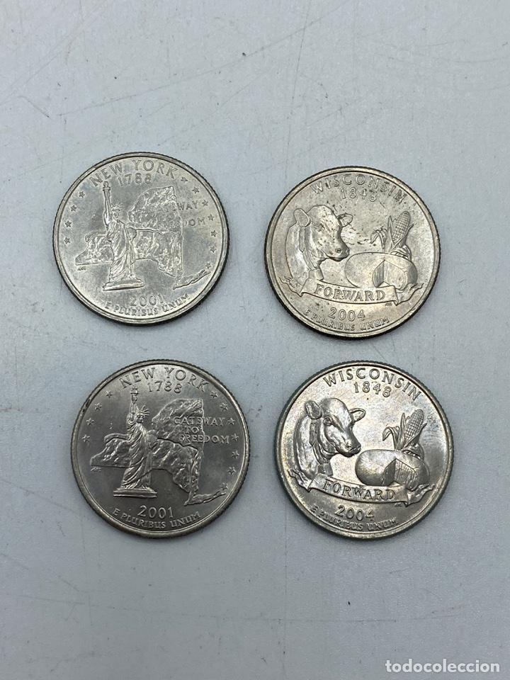 Monedas antiguas de América: LOTE DE 18 MONEDAS DE EEUU. NEW YORK Y WISCONSIN. QUARTER DOLLAR. CUARTO DOLAR. DEL AÑO 2001 Y 2004. - Foto 9 - 251799740