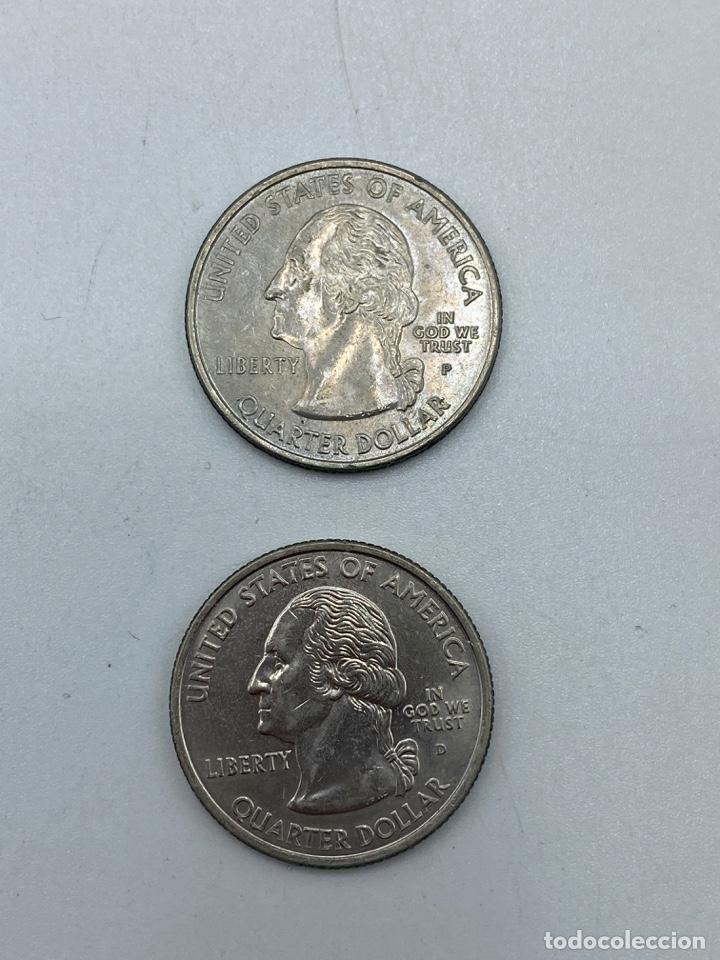 Monedas antiguas de América: LOTE DE 18 MONEDAS DE EEUU. NEW YORK Y WISCONSIN. QUARTER DOLLAR. CUARTO DOLAR. DEL AÑO 2001 Y 2004. - Foto 10 - 251799740