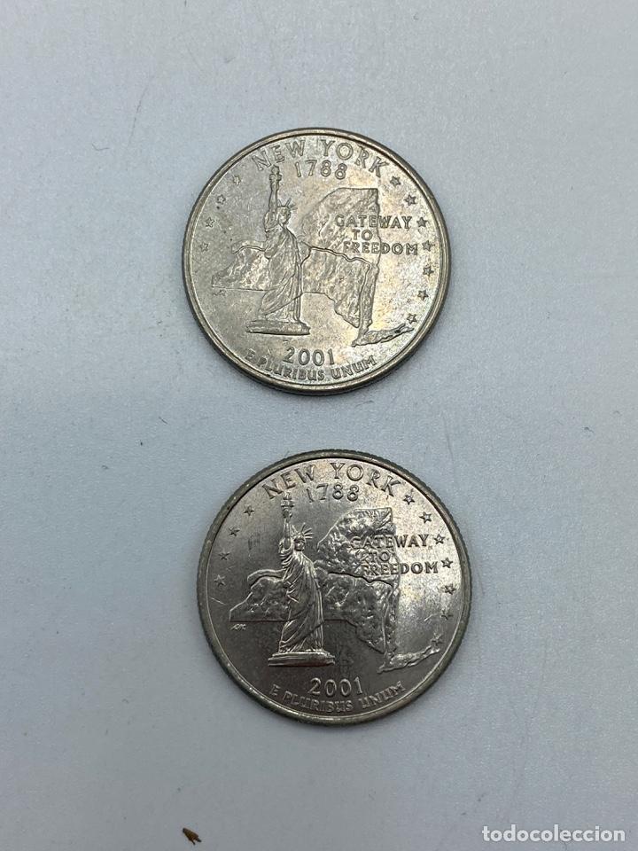 Monedas antiguas de América: LOTE DE 18 MONEDAS DE EEUU. NEW YORK Y WISCONSIN. QUARTER DOLLAR. CUARTO DOLAR. DEL AÑO 2001 Y 2004. - Foto 11 - 251799740