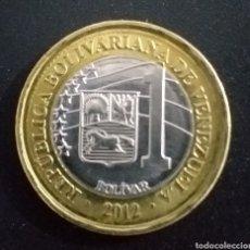 Moedas antigas da América: MONEDA DE 1 BOLIVAR REPUBLICA BOLIVARIANA DE VENEZUELA AÑO 2012. Lote 252870205