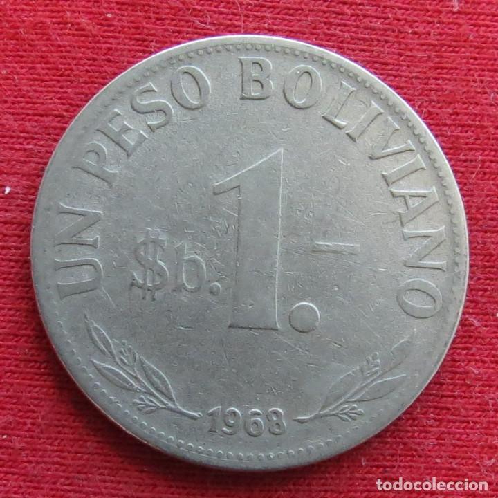 BOLIVIA 1 PESO BOLIVIANO 1968 (Numismática - Extranjeras - América)