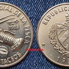 Monedas antiguas de América: CUBA 1 PESO 1983 CONFERENCIA MUNDIAL PESCA CRUSTACEOS . PESO 11,35 GR. 30 MM. KM/107.. Lote 280120583