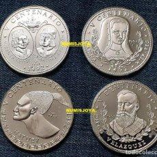 Moedas antigas da América: CUBA COLECCIÓN COMPLETA 4 MONEDAS DE 10 PESOS PLATA AÑO 1991 2ª SERIE V CENTENARIO. CON HOJA PARDO.. Lote 268893519