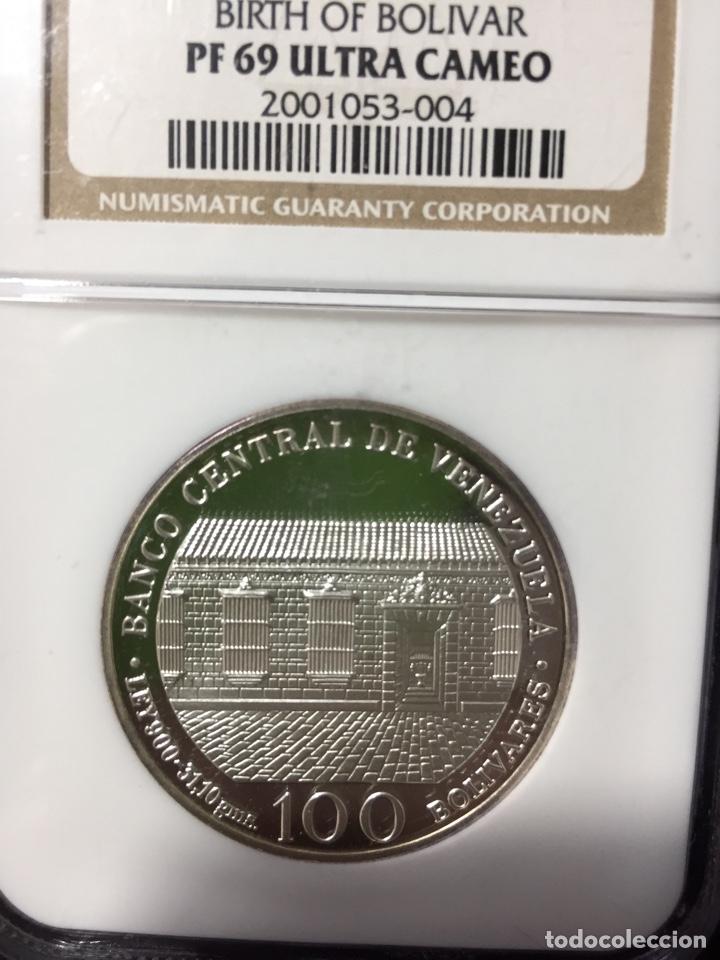 Monedas antiguas de América: Moneda plata - 100 bolívares Venezuela - 1983 - certificada NGC - sin circular proof (oro ptas onza) - Foto 2 - 254596545