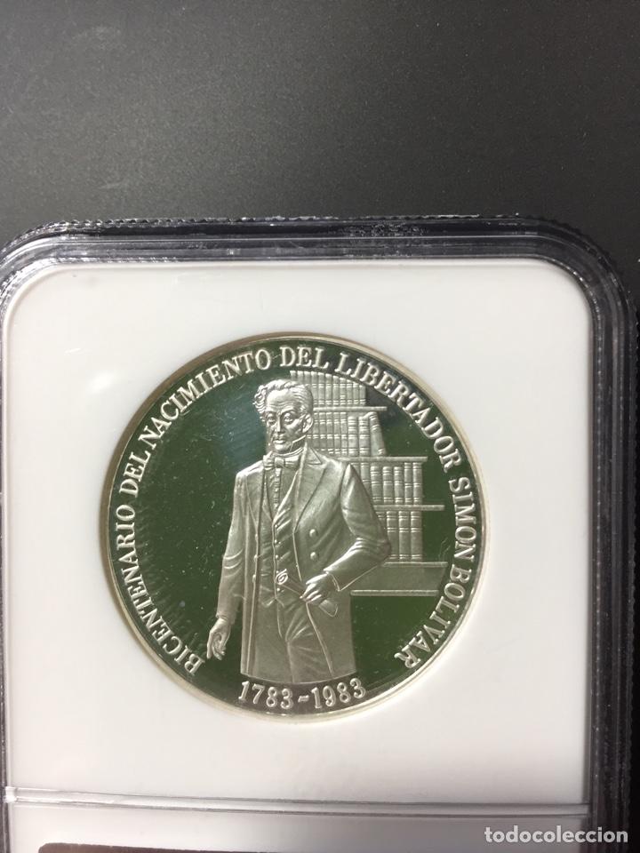 Monedas antiguas de América: Moneda plata - 100 bolívares Venezuela - 1983 - certificada NGC - sin circular proof (oro ptas onza) - Foto 3 - 254596545
