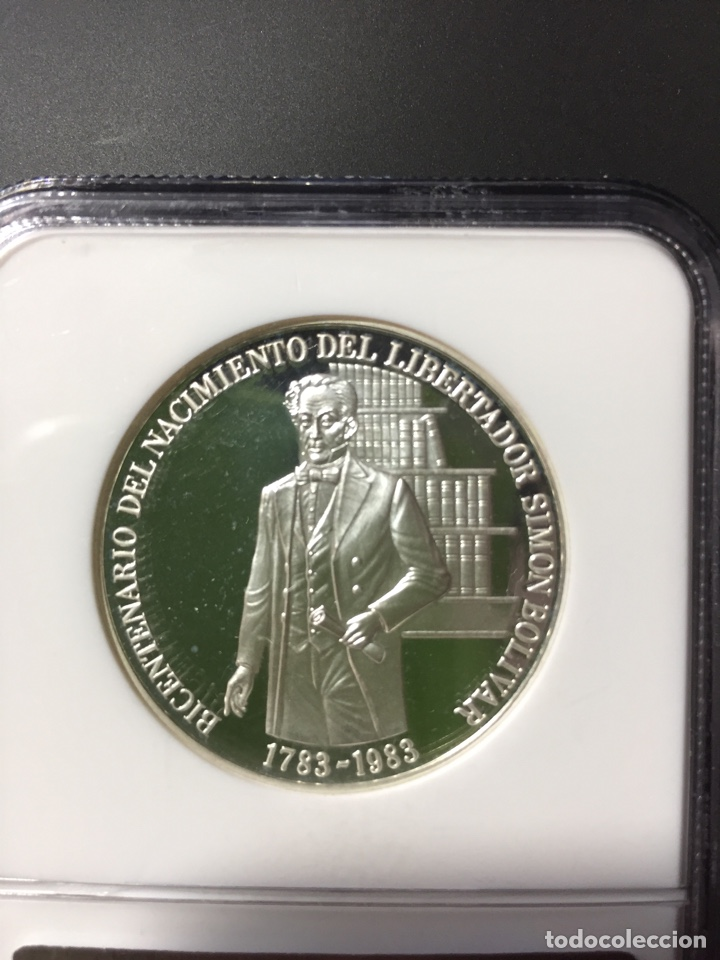 Monedas antiguas de América: Moneda plata - 100 bolívares Venezuela - 1983 - certificada NGC - sin circular proof (oro ptas onza) - Foto 4 - 254596545