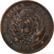 Monedas antiguas de América: MONEDA, ARGENTINA, 2 CENTAVOS, 1885, MBC+, BRONCE, KM:33. Lote 254668525