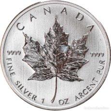 Monedas antiguas de América: MONEDA, CANADÁ, ELIZABETH II, MAPLE LEAF, 5 DOLLARS, 2012, 1 OZ, SC, PLATA. Lote 254676515