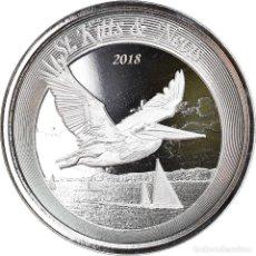 Monedas antiguas de América: MONEDA, SAINT KITTS & NEVIS, BROWN PELICAN, 2 DOLLARS, 2018, 1 OZ, FDC, PLATA. Lote 254679500